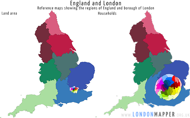 Reference maps: London and England