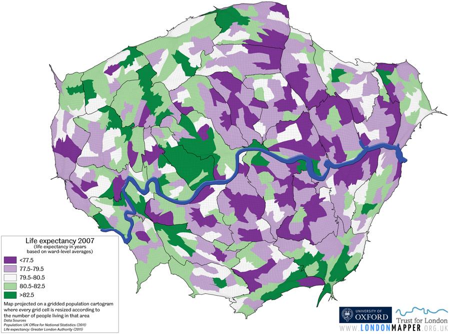 Map Of Greater London Area Uk.Inequalities In London Londonmapper